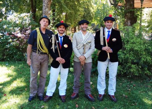Nos guides en tenues tradutionnelles lors de la Fête des Guides de Luchon du 15/08/18