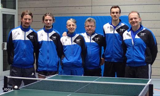 Bernard Dobmeier, Thomas Häring, Benjamin Stark, Johann Gmyrek, Marvin Schauder, Wolfgang Pfleger (v. l.)