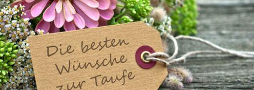 Kirchgemeinde Limpach - Dekofoto Taufe