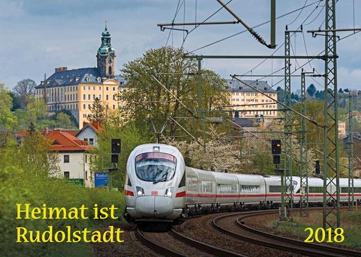 Blick zur Heidecksburg.  Bald sieht man keinen ICE mehr bei Rudolstadt.
