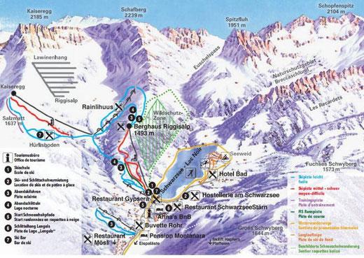 Skifahren und Schneeschuhtouren Eislauf auf See!