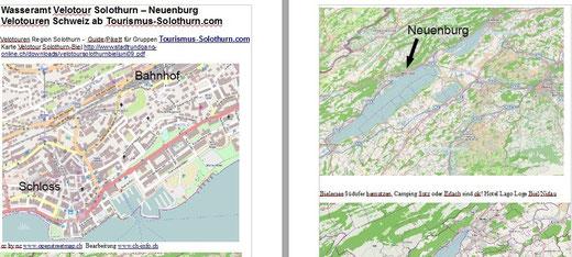 Bsp Solothurn Neuchatel alle nur wenn gebucht!