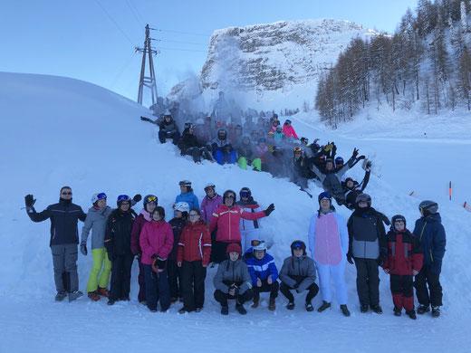 Bis hoch auf den Gerlosstein führte es einige Schülerinnen und Schüler der Oberschule Pingel Anton.
