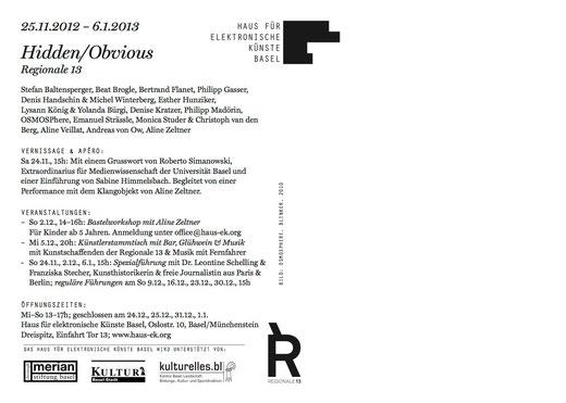 COR - an der Regionale13 vom 25.11.12-06.01.13