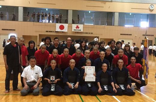 西日本短期大学附属高校剣道部 男子3年&2年生部員