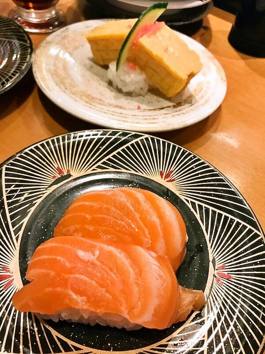 魚辰 玉子とサーモン