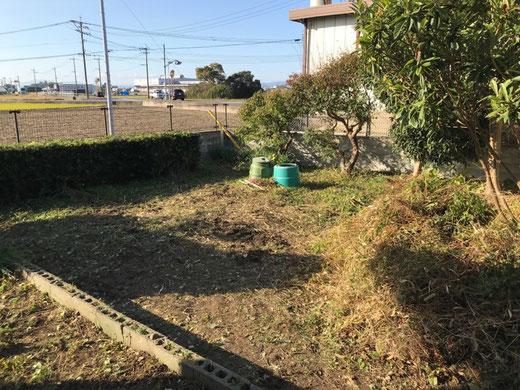 家庭菜園への道 初日②