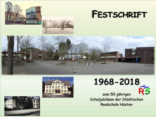 Zum 50-jährigen Schuljubiläum kann unsere Festschrift im Sekretariat der Realschule Hüsten und in den Buchhandlungen Engelbertz (Hüsten) und der Mayerschen (Neheim) zum Preis von 8 Euro erstanden werden.