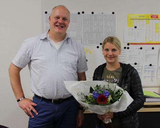 Theresa Guntermann (D, MU) musste zunächst verabschiedet werden, da über die Sommerferien eine Vertragsverlängerung nicht möglich war. Sie befindet sich am Ende ihres Studiums.