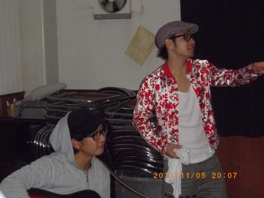 FUN-KOROGASHI(ふんころがし)のお二人さん^^KEN(右)&ミッチー(左)