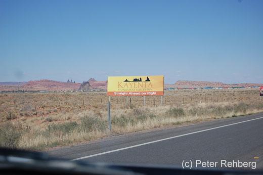 Wir nähern uns Kayenta