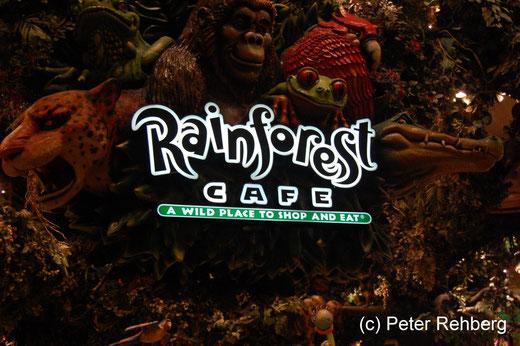 Las Vegas, Rainforest Cafe im MGM, hier haben wir gut gegessen