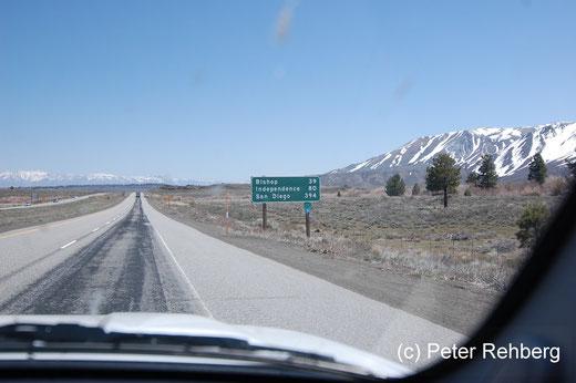 Noch 39 Meilen bis Bishop und alleine auf weiter Flur
