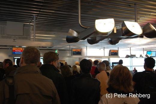 Frankfurt: Warten auf das Boarding