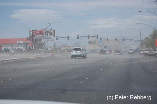 Las Vegas: Wir wurden mit einem kleinem Sandsturm begrüsst