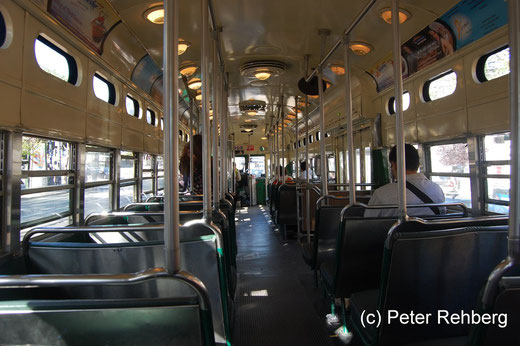 """San Francisco: Hier besagter StrassenOmnibus der Linie """"F"""""""
