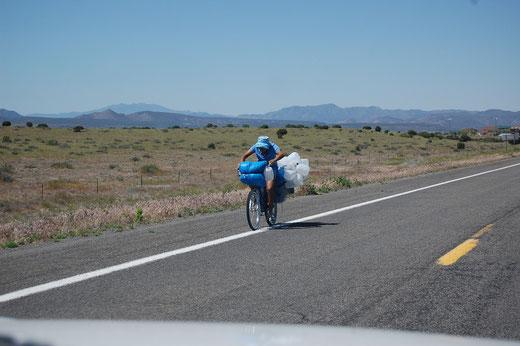 Da übt jemand für die Tour de France