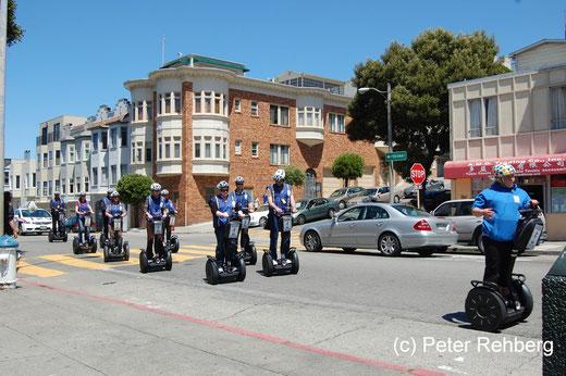 San Francisco: Gesehen wärend der Zigraettenpause an der Bushaltestelle Powell St. & Lombard St.