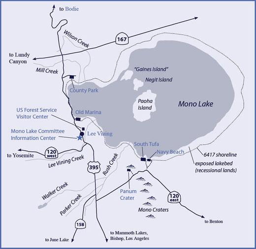 Karte des Mono Lake (c) monolake.org