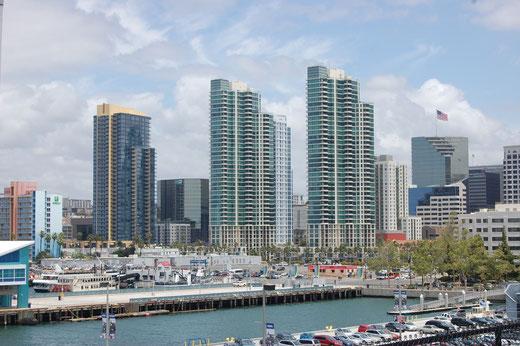 Blick auf Downtown San Diego