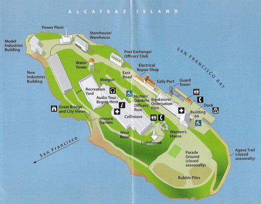 Übersich von Alcatraz