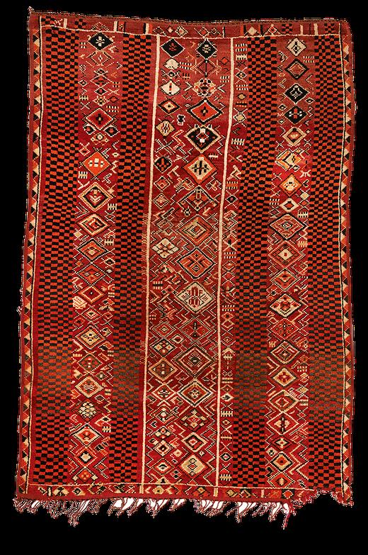 Teppich. Zürich. Vintage moroccan Rug. Handgeknüpfter Teppich aus Marokko.