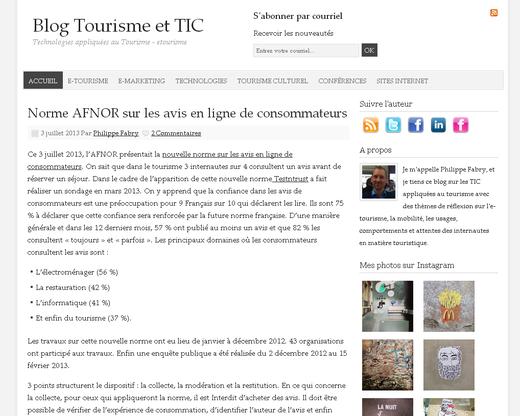Blog Tourisme et TIC