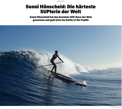 Sonni Hönscheid : Interview in redbull.com