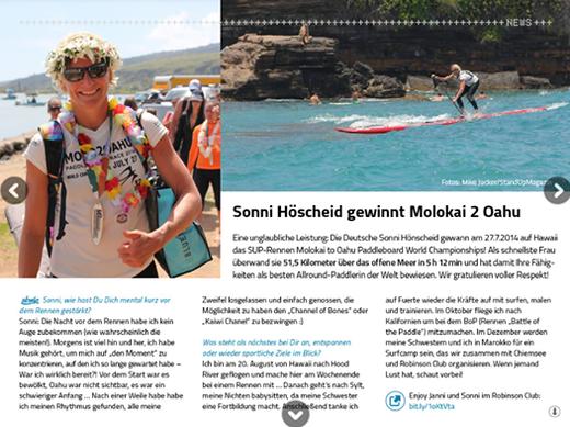 Sonni Hönscheid gewinnt Molokai2Oahu