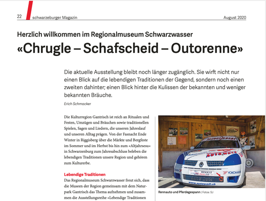 Schwarzeburger Magazin, August 2020