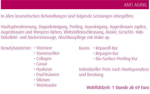 Anti-Aging Kosmetik in der Beauty Boutique in Magdeburg