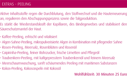 Peeling Kosmetik Beauty Boutique Magdeburg