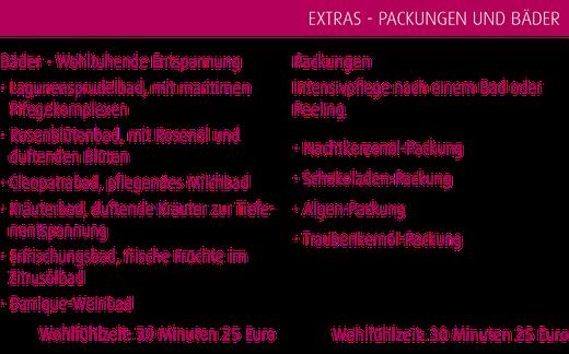 Packungen Bäder Entspannung in Magdeburg