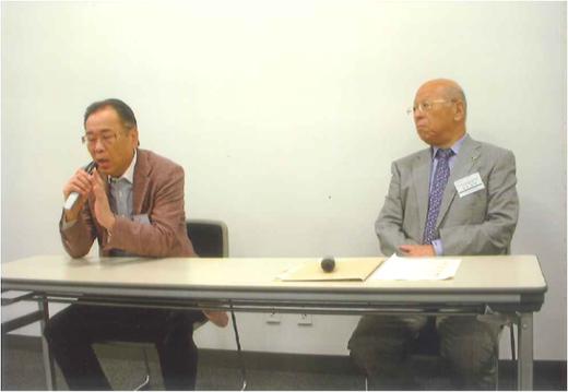 岩谷英昭氏(写真左側)と浦田宏二氏(写真右側)