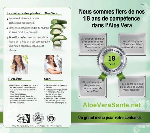 LR Health and Beauty Systems.  18 ans de compétence et succès avec l'aloe vera en 2020 - 10 ans en 2012