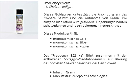 Frequency 852Hz