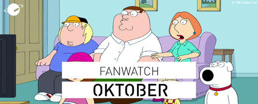 fanwatch oktober family guy netflix amazon prime