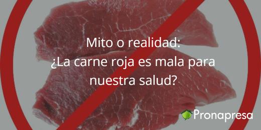 Mito o realidad: ¿La carne roja es mala para nuestra salud?