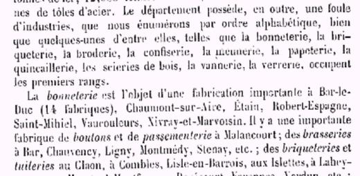 Adolphe JOANNE - 1881 - «Géographie du département de la Meuse».