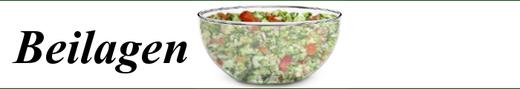 Beilagen - Tomatensalat, Gurkensalat, Fischsalat, Eisalat, Fleischsalat, Möhrensalat, ...