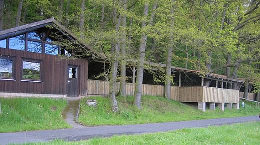 Die Schützenhalle am Biegenberg in Hartershausen. Austragungsort des alljährlichen Sommernachtsballs.