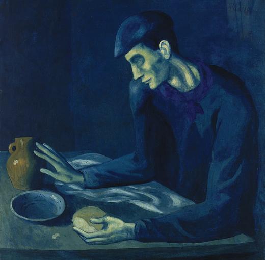"""Pablo Picasso, """"Il pasto dell'uomo cieco"""" (1903)"""