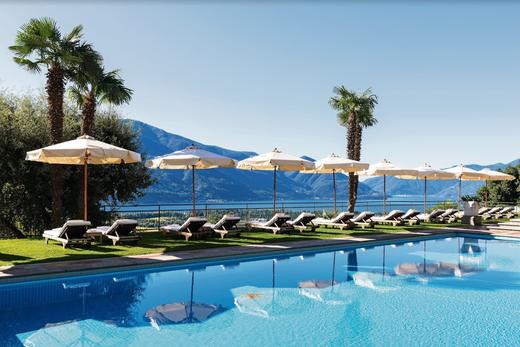 Das Hotel Villa Orselina ist so etwas wie der Balkon über Locarno.