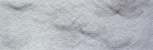 1982     Tinte auf Acryl auf Leinen   90 x 30   2017