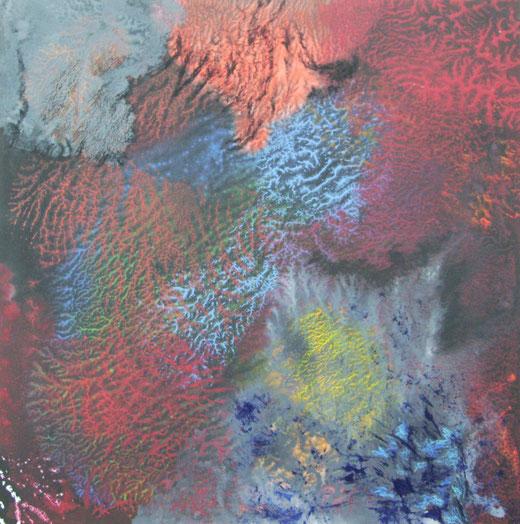1646 org.strukturen acry, ölfarbe auf hartfaser 60x60 2015