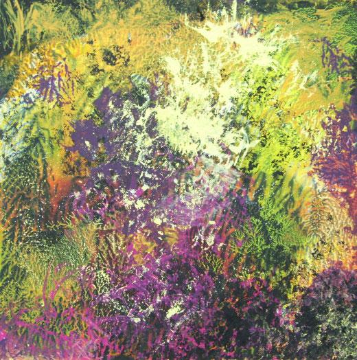 1644 org. strukturen, acryl,ölfarbe auf hartfaser, 60x60 2015
