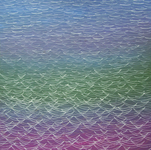 1990  Tinte auf Acryl auf Hartfaser  80 x 80   2017