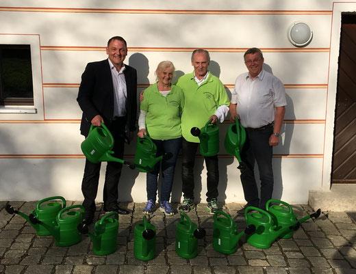 Klaus Hafner Hans Koch Erich Richthammer Königstein CSU Ortsverband Christine Richthammer Gartenbauverein Gießkannen Rathaus
