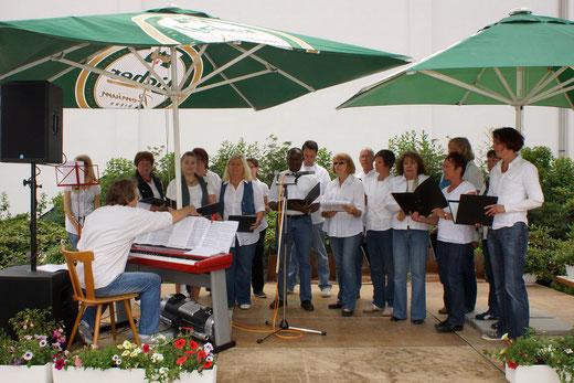 Auftritt von Da Capo beim Rosenfest in Wernborn 2012