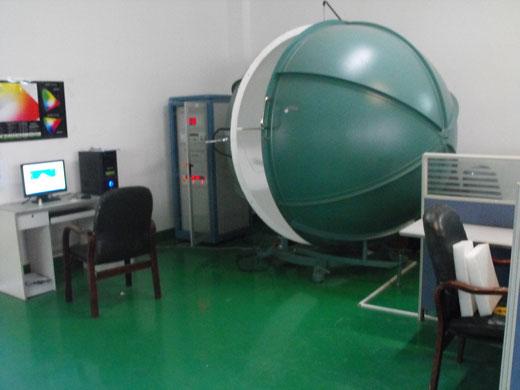照明テスト機器(積分球)